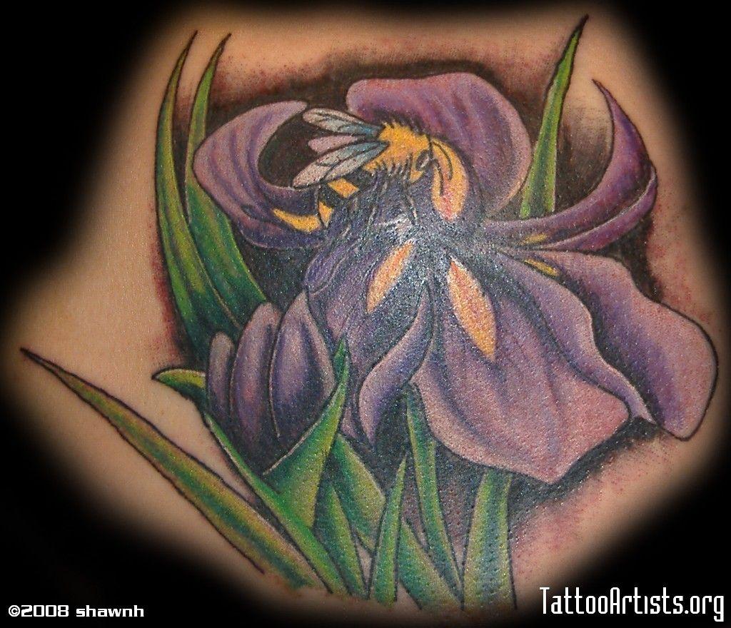 Bee iris tattoo tattoos pinterest iris tattoo tattoo and bee and iris izmirmasajfo Images