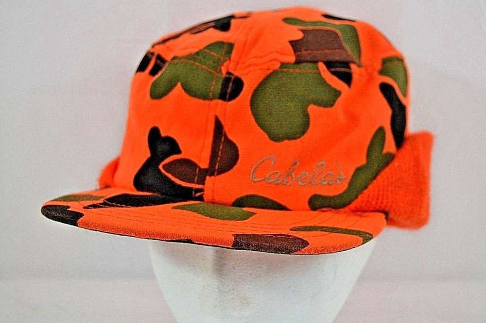 Cabela s Camo Hunter Orange Hunting Cap w Ear Flaps USA Large  Cabelas   Hunting 7758e49dae28