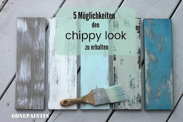 Photo of shabby chic con look chippy- Wie geht das?