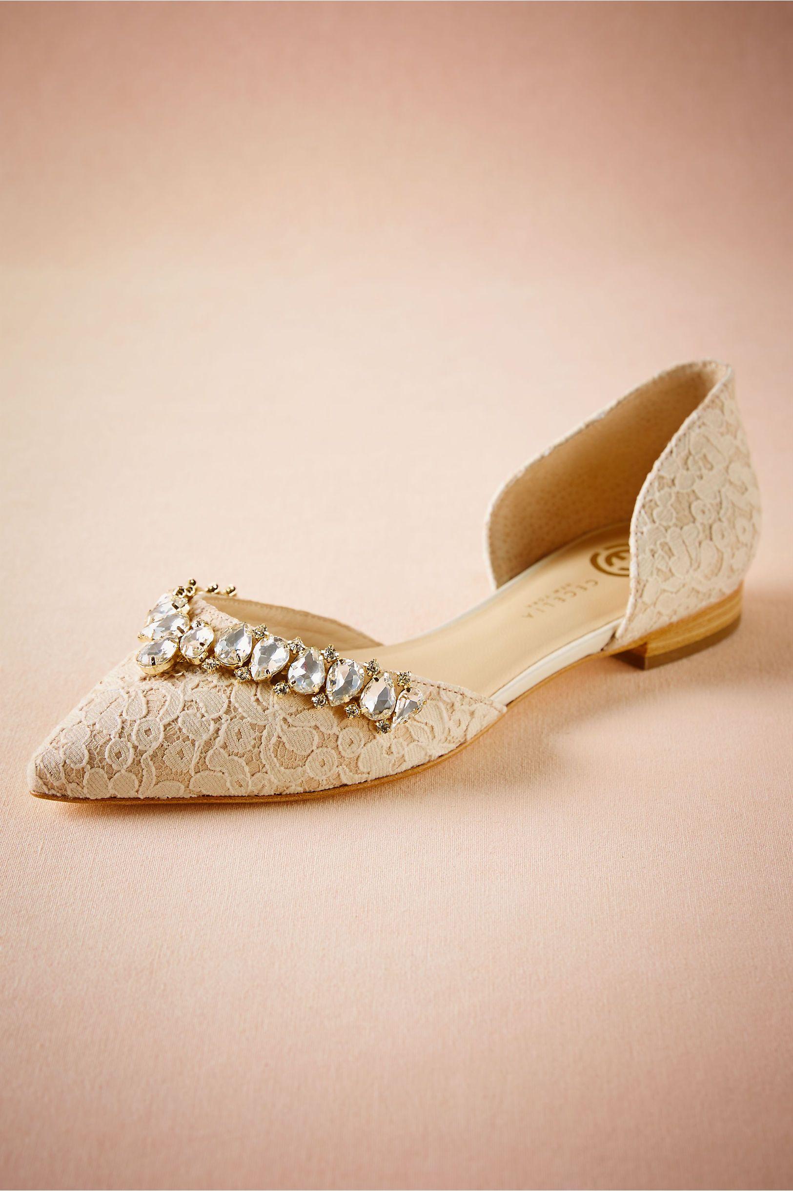 85e31b400121 BHLDN Lotti Lace Flats in Bride Bridal Shoes & Accessories Bridal Shoes |  BHLDN