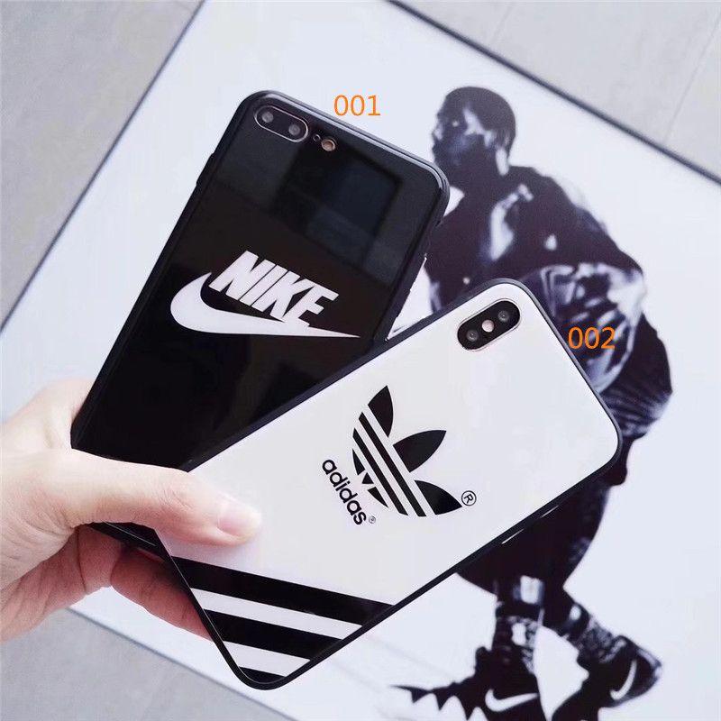d4cbab7963 スポーツブランド iPhoneケース ガラス アディダス アイフォンケース 鏡面 アイホンx/8携帯カバー adidas 保護ガラスフィルム