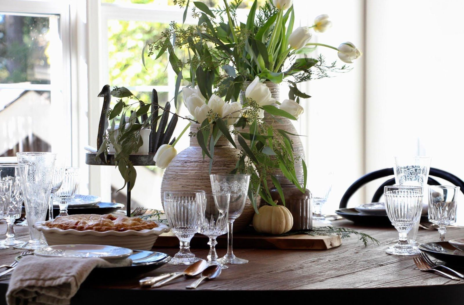 On the table- Gathered Goodness Thanksgiving table setting idea #thanksgivingtablesettings