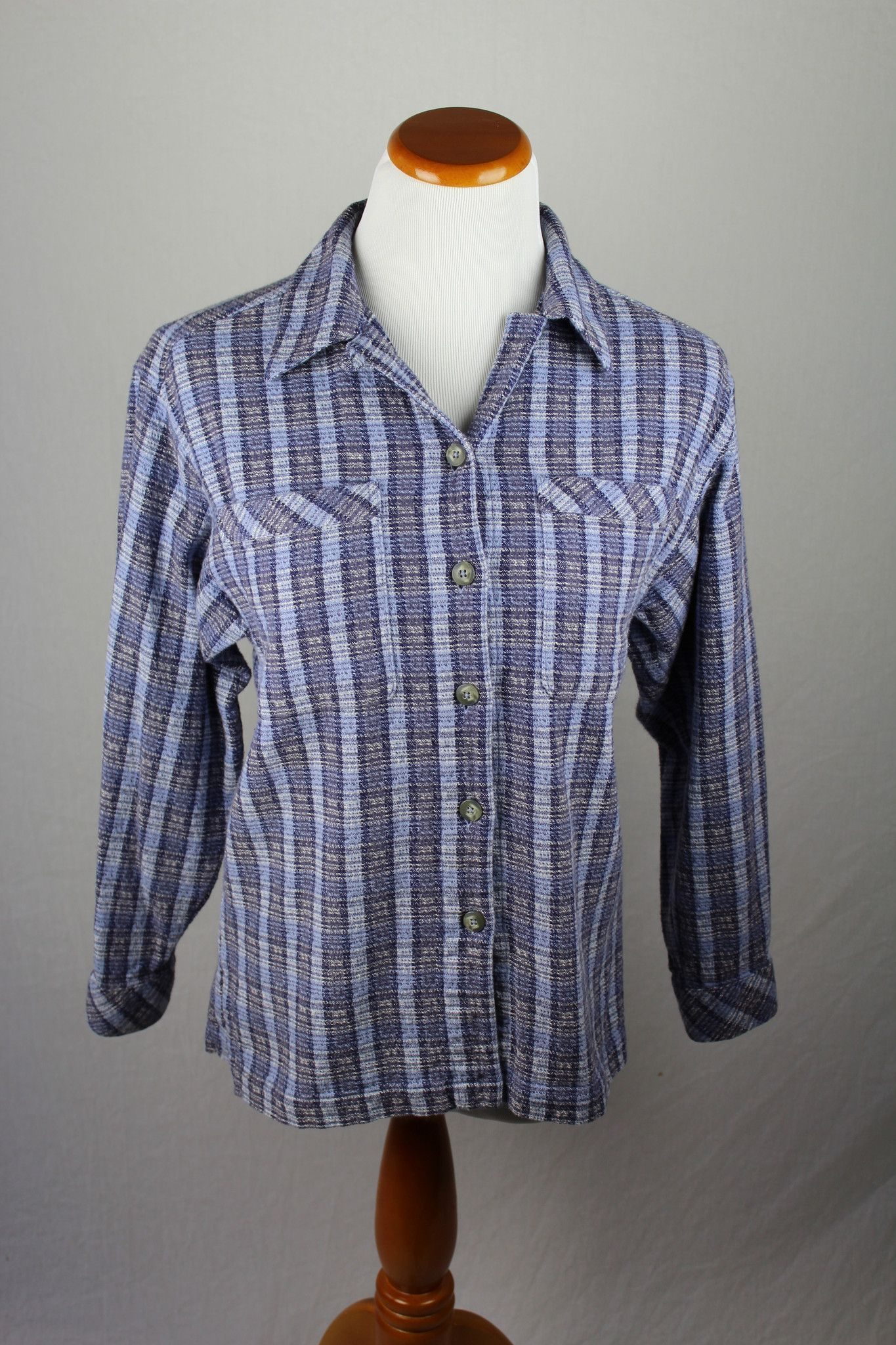 Periwinkle Button Down Female Extra Small
