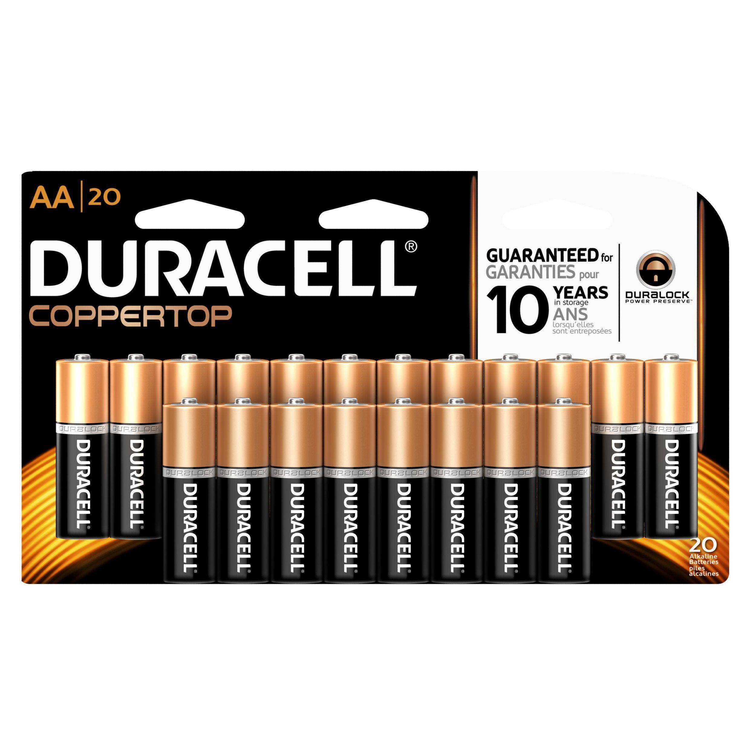 Duracell Coppertop Aa Alkaline Batteries 20 Count Duracell Alkaline Battery Charger Accessories