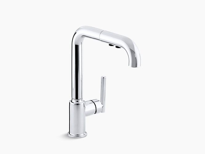 Purist Single Handle Pullout Spray Kitchen Sink Faucet K 7505