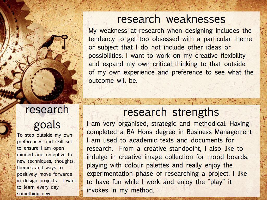 This Image Shows My Critical Analysis Of Research Goals For The Ma