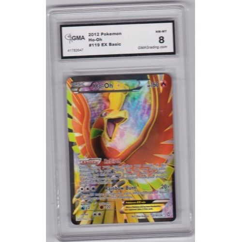 2012 Pokemon Black and White Dragons Exalted Ho-Oh Holo EX Graded GMA 8