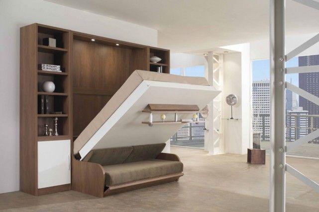 Astucieux rangements pour petits espaces bureau chambre d 39 amis en 2019 - Espaces rangements astucieux salon ...