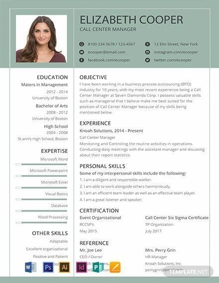 free clean resume template  download 206  resume templates