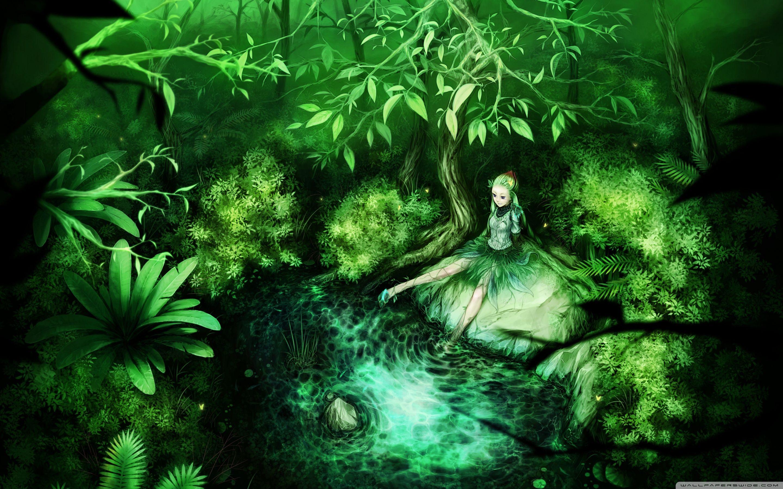 Green Fairy 4k Hd Desktop Wallpaper For 4k Ultra Hd Tv Dual Monitor Desktops Tablet Smartphone Mobile D Fairy Wallpaper Fantasy Girl Fantasy Posters