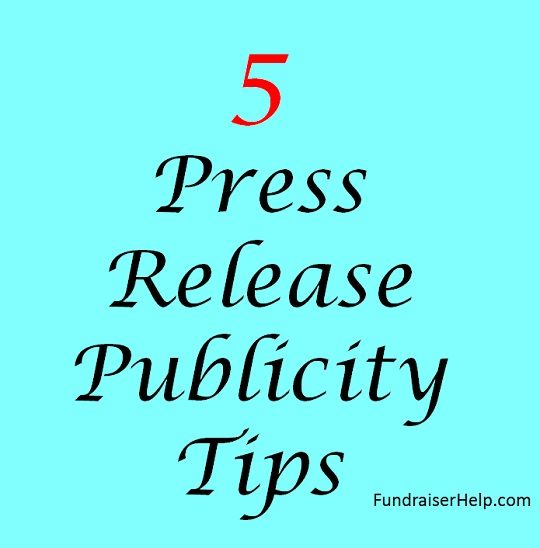 how to write a press release for charity event