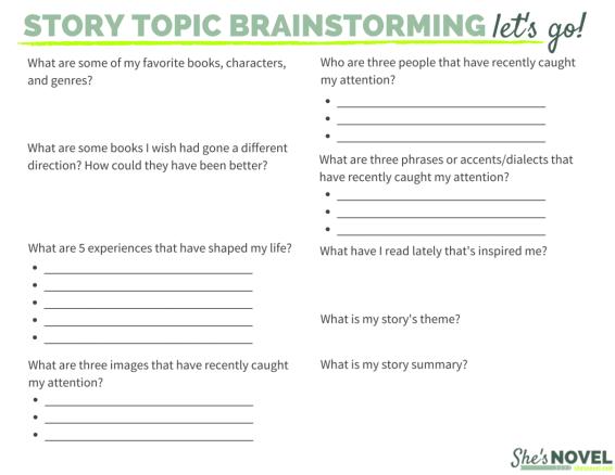 Three Powerful Ways to Brainstorm New Story Ideas | Writing ...