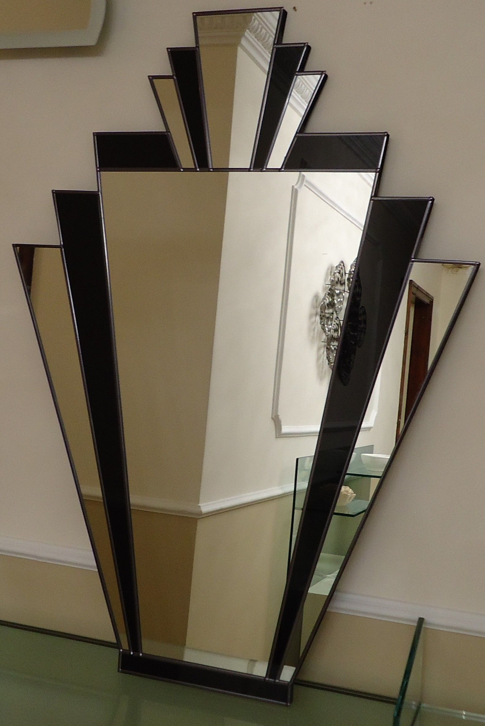 Art Deco Style Mirror Art Deco Mirrors Black And Silver Art Deco Mirror On