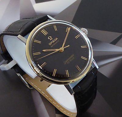 Vintage 1965 Men S Omega Seamaster De Ville 24j 552 Wristwatch Black Dial Omega Seamaster Omega Vintage Watches