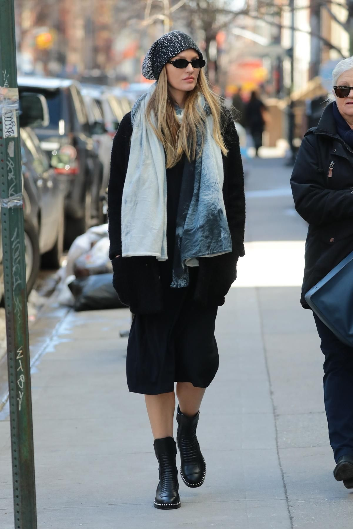 a876b504da Candice Swanepoel wearing Alexander Wang Mica Boots and Le Specs Outta Love  Sunglasses