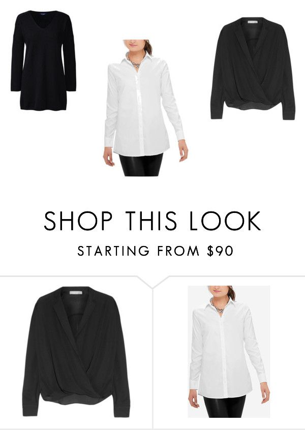 """""""4"""" by fultonhoward ❤ liked on Polyvore featuring Vince, The Limited and Lands' End"""