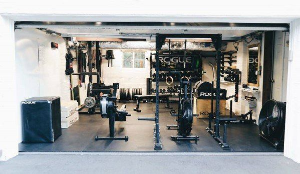 Top 75 best garage gym ideas home fitness center designs fitness