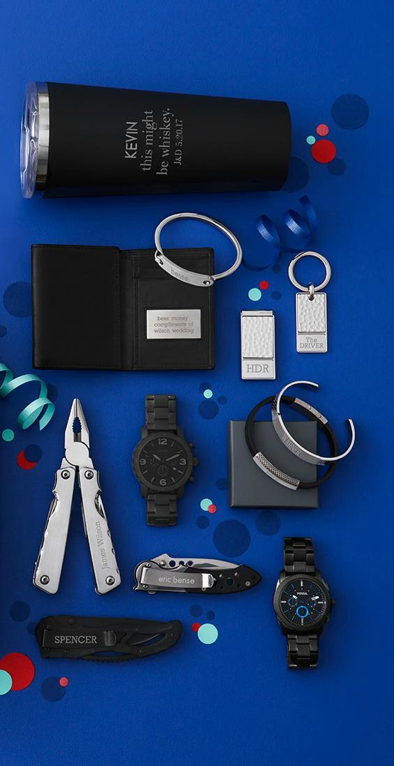 Give Your Groomsmen The Best Gifts Ever Personalize Anything From A Watch To A Pocket Knife And Give Diy Wedding Gifts Groomsman Gifts Gifts For Wedding Party