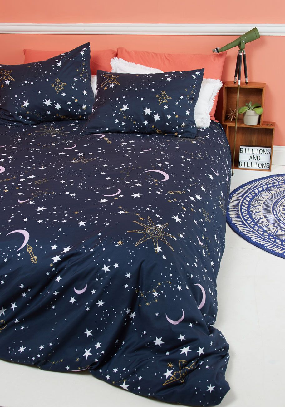 Star Crossed Covers Duvet Cover In Full Queen Modcloth Retro