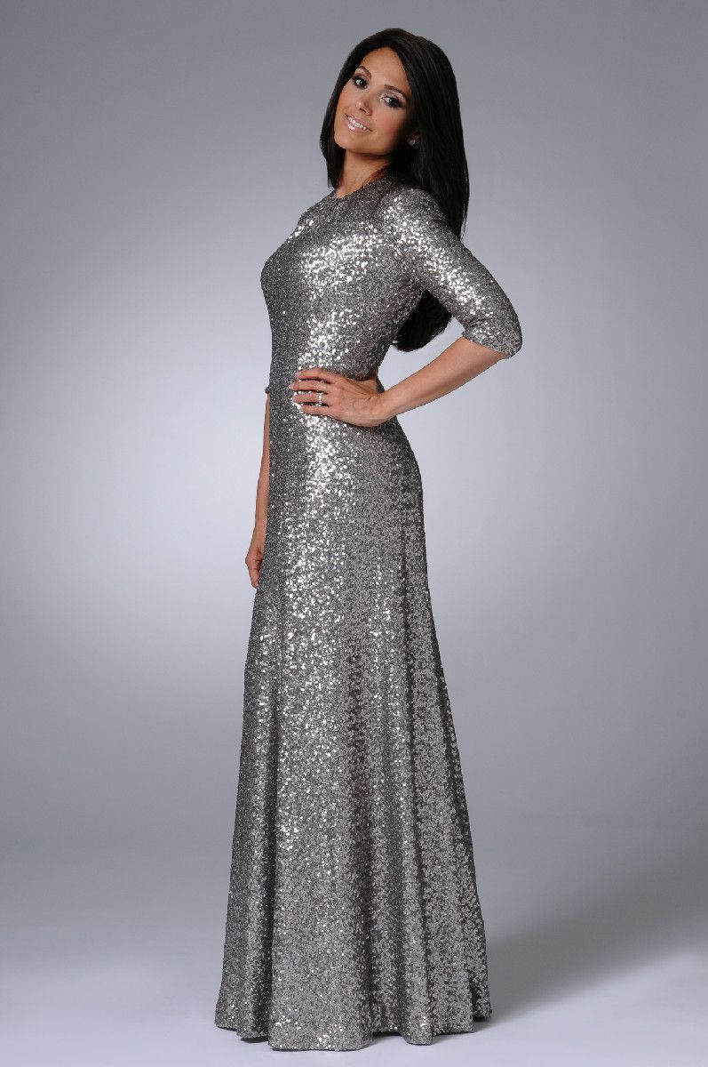 Sparkling Silver Gown - Going Away in Modest Style | The Getaway ...