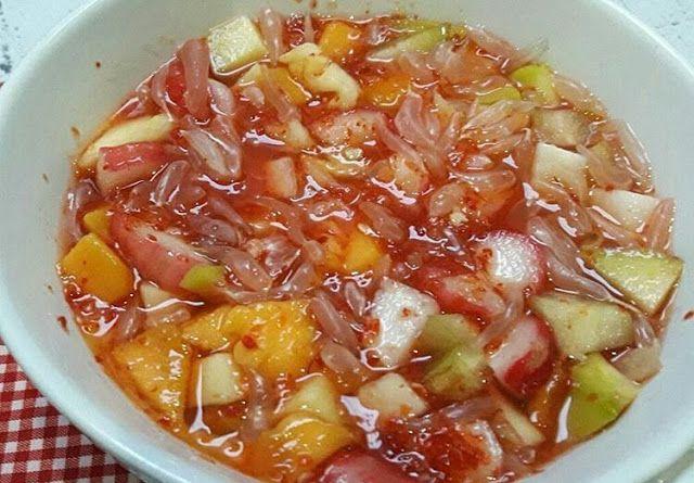 Resep Rujak Cacah Kuah Merah Resep Resep Makanan Resep Masakan