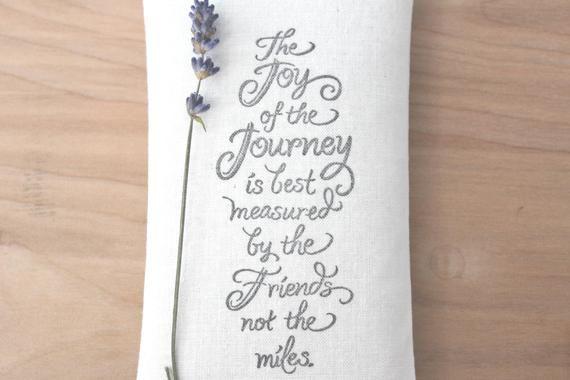 Unique Friendship Gifts Joy of the Journey Lavendar Sachet ...