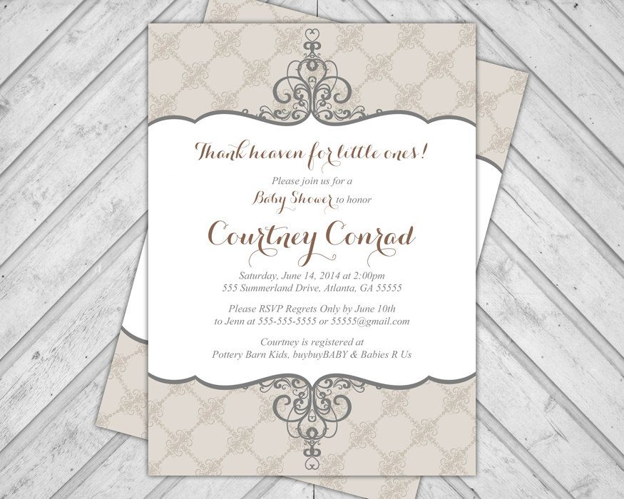 Gender neutral baby shower invitations by alittletreasure