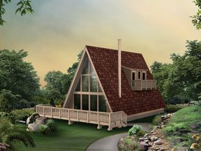 A frame house plan  3 bed 1 full bath