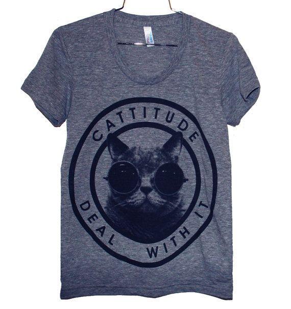 Cattitude T-Shirt (Select Size)