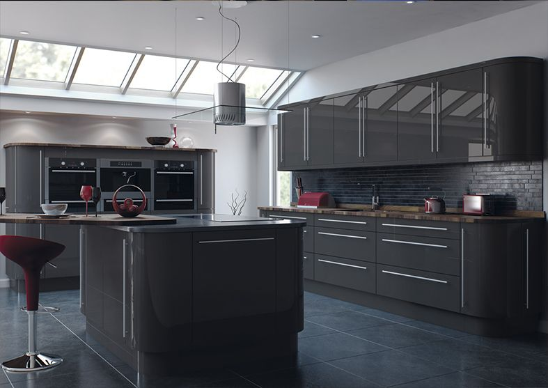 Image Result For Grey Gloss Kitchen Kitchen Ideas