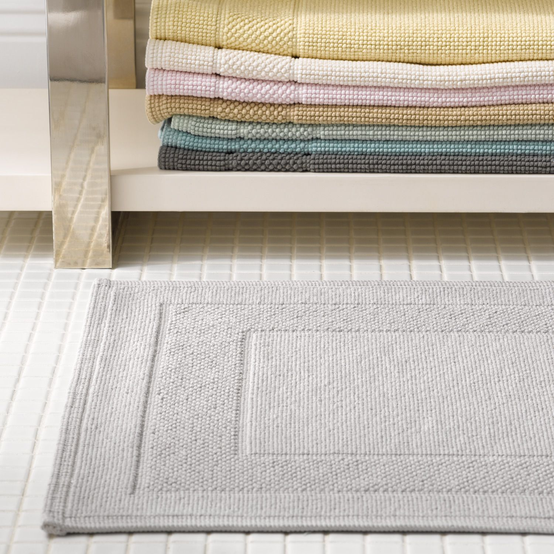 Matouk Luxury Linens Luxury Linen Cotton Bath Rug Bathroom Rugs And Mats [ 1500 x 1500 Pixel ]