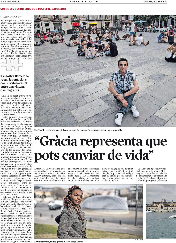 """La-Vanguardia_11_8_2015Viure-a-l'estiu_sobre_""""La nostra Barcelona""""."""