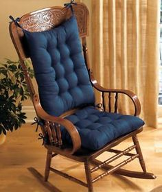 Image Result For Vintage Primitive Navy Rocking Chair Cushion Pads