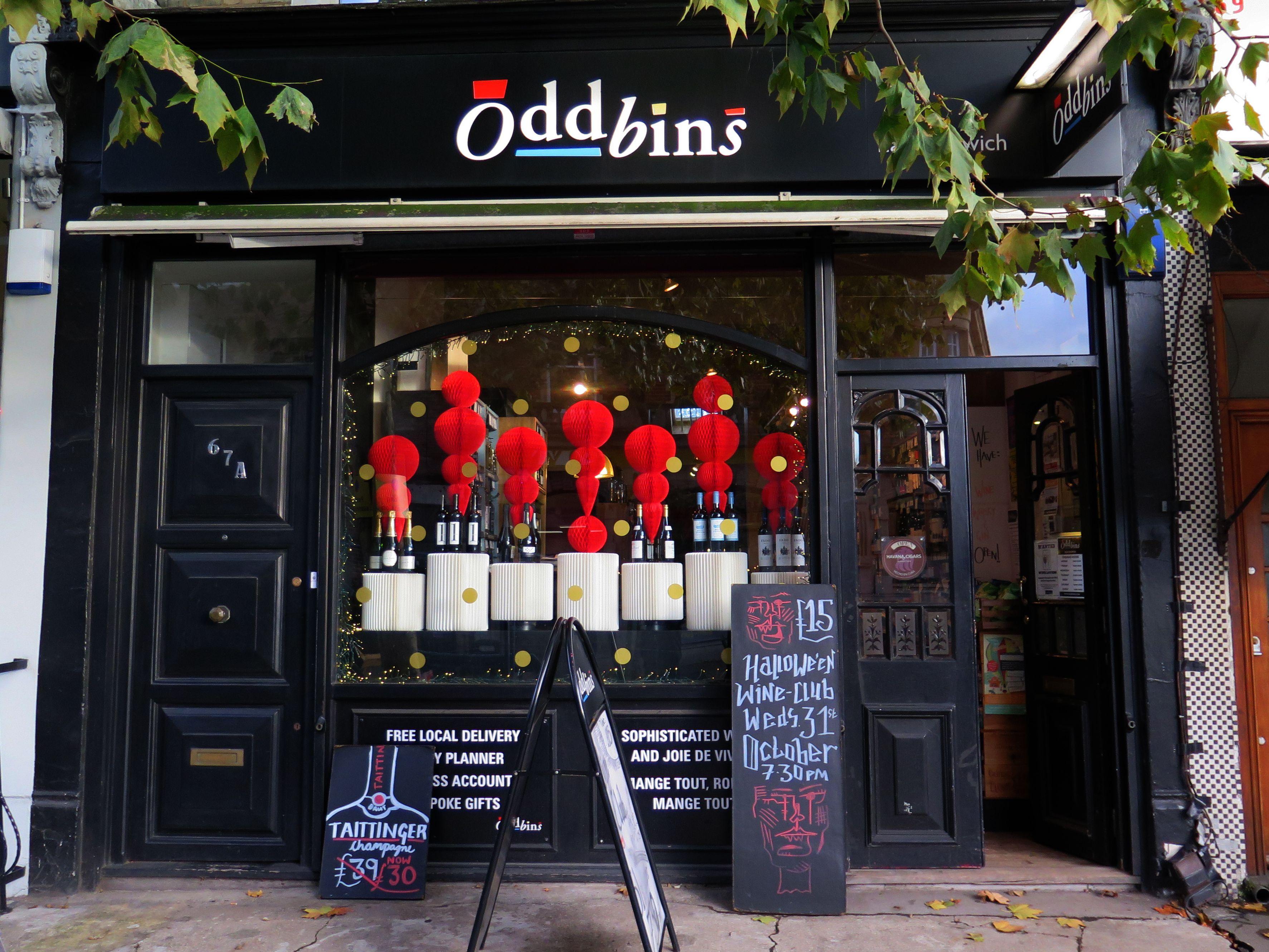 Christmas 2018 At Oddbins East Dulwich Window Design Bins Christmas