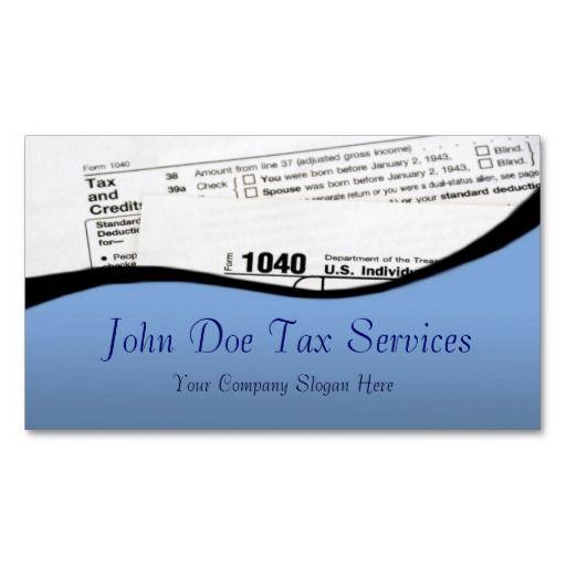 Tax Preparer Federal Tax Form Business Card Federal and Business - federal tax form