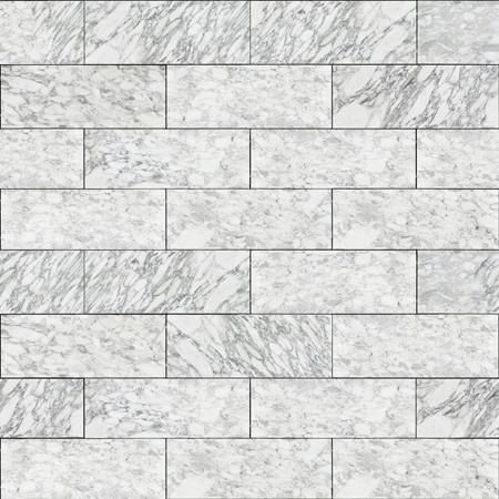 Classic Black and White Marble Tile Wallpaper