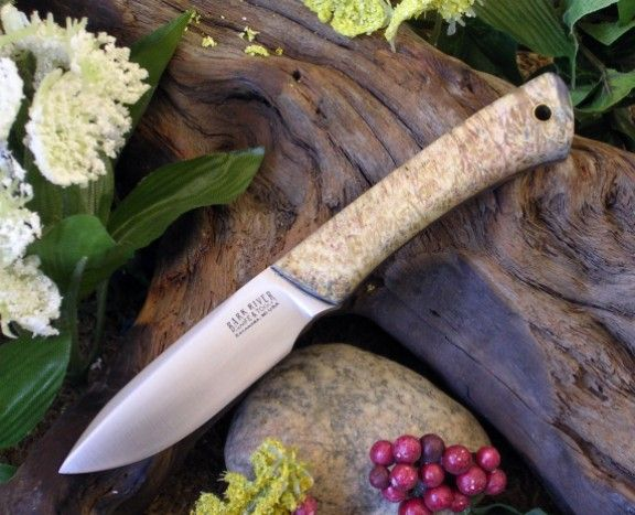 Custom Spear Point Little Creek--Black Ash Burl-
