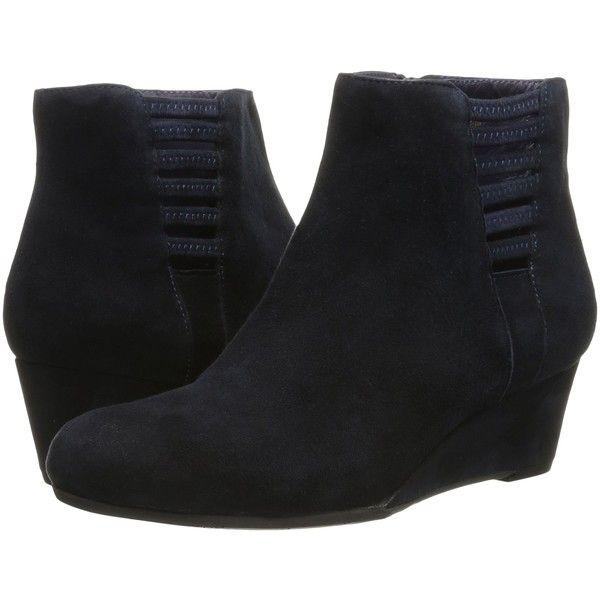 Womens Boots Vaneli Laban Navy Suede/Mtch Zipper