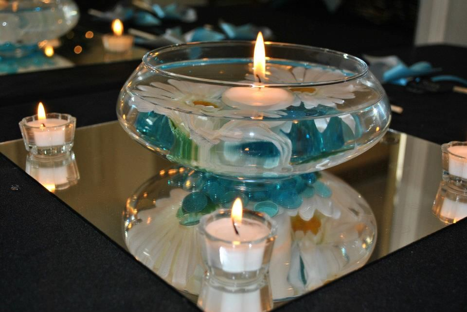 Floating Candles In Bowl Centerpiece Kreativ Otletek Dekoracio