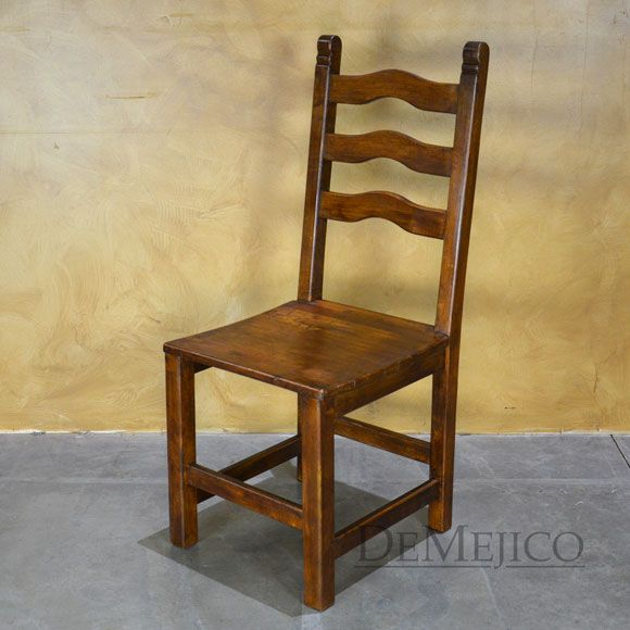 The Silla Teco Is A Traditional Spanish Style Chair Crafted From Solid Mesquite Wood Rustic Dining Chairs Spanish Chairs Dining Chairs