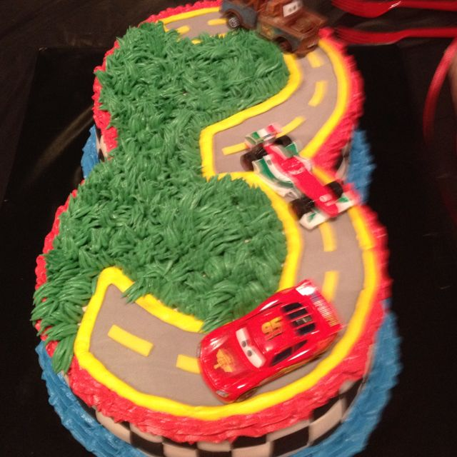 Cars  Rd Birthday Cake Braydens Rd Bday Pinterest - Birthday cake cars 2