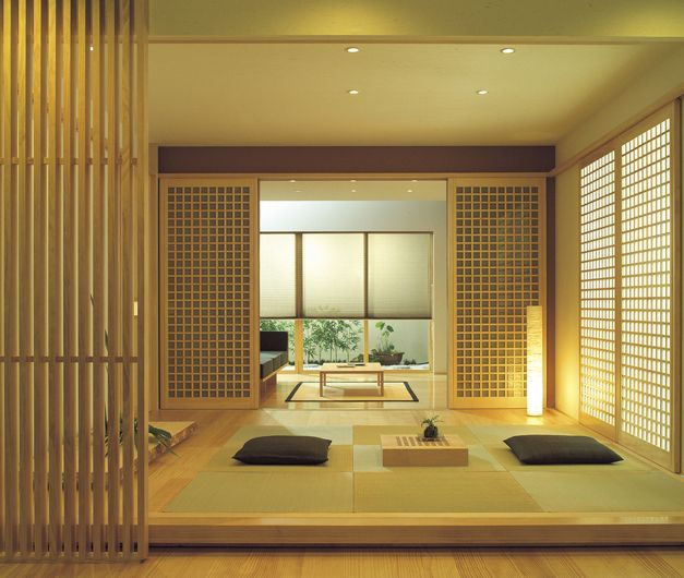 Modern japanese tatami room japanese home wabisabi for Modern japanese house interior design