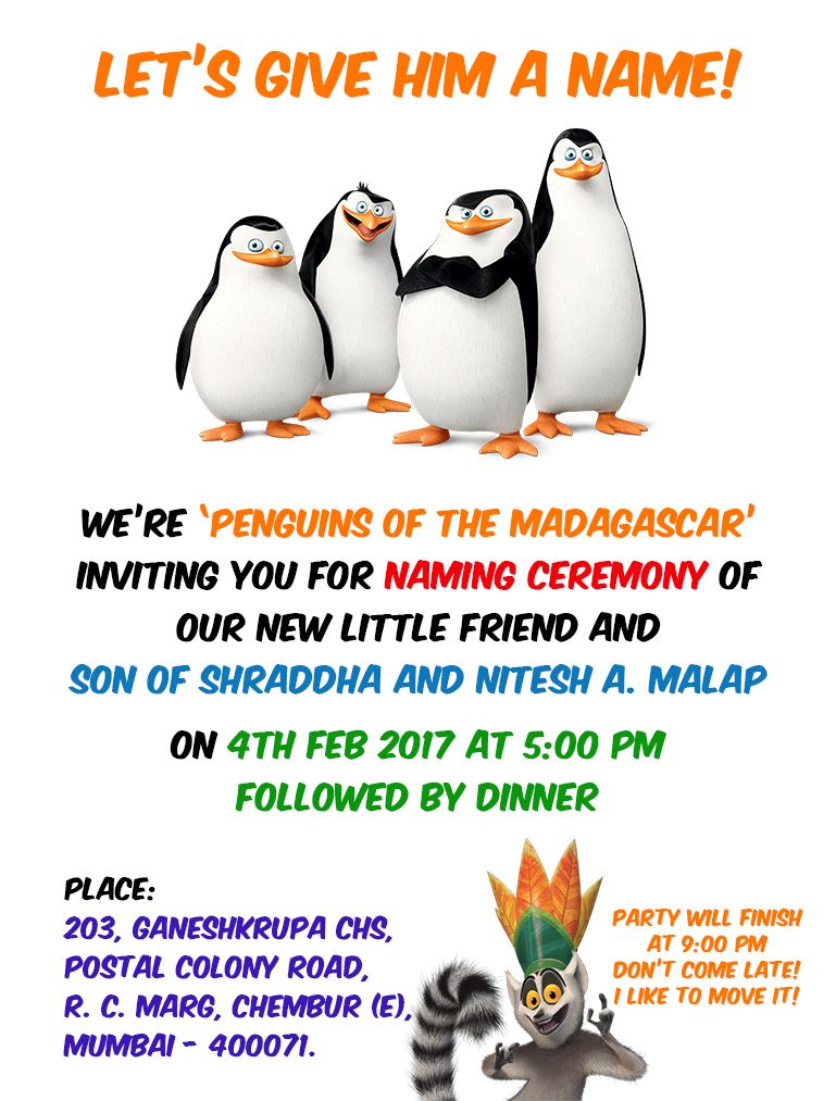 Naming Ceremony Invitation For My Son  Paarth