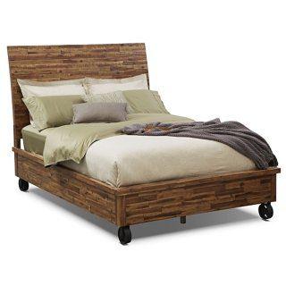 Bedroom Furniture-Crosswoods King Bed