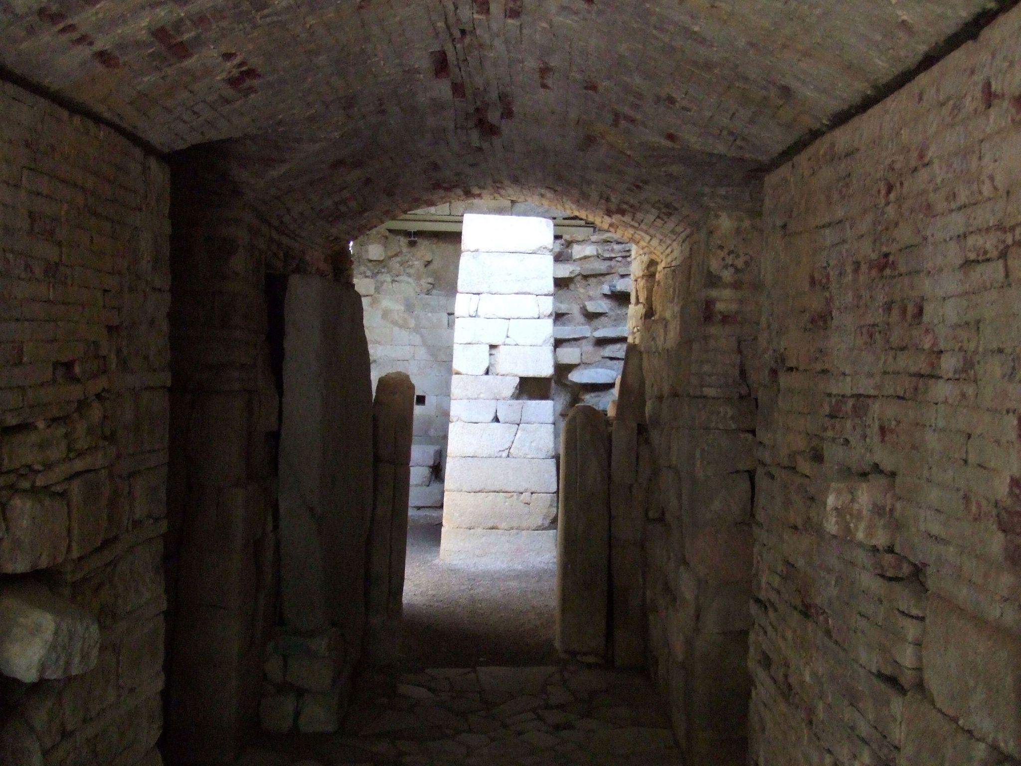 Pietrera Vestibule, Entrance to the Pietrera Tomb, Tholos tomb, Etruscan civilisation, 7th century BCE.