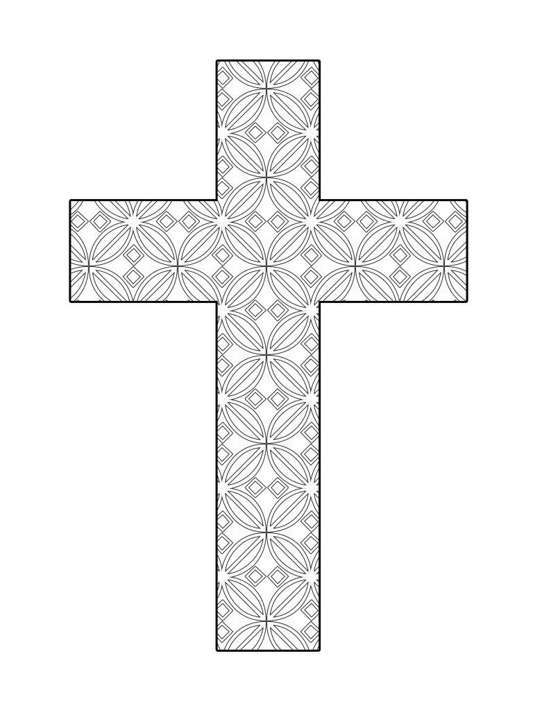 Printable Cross Coloring Flower Pattern | The Cross | Pinterest ...