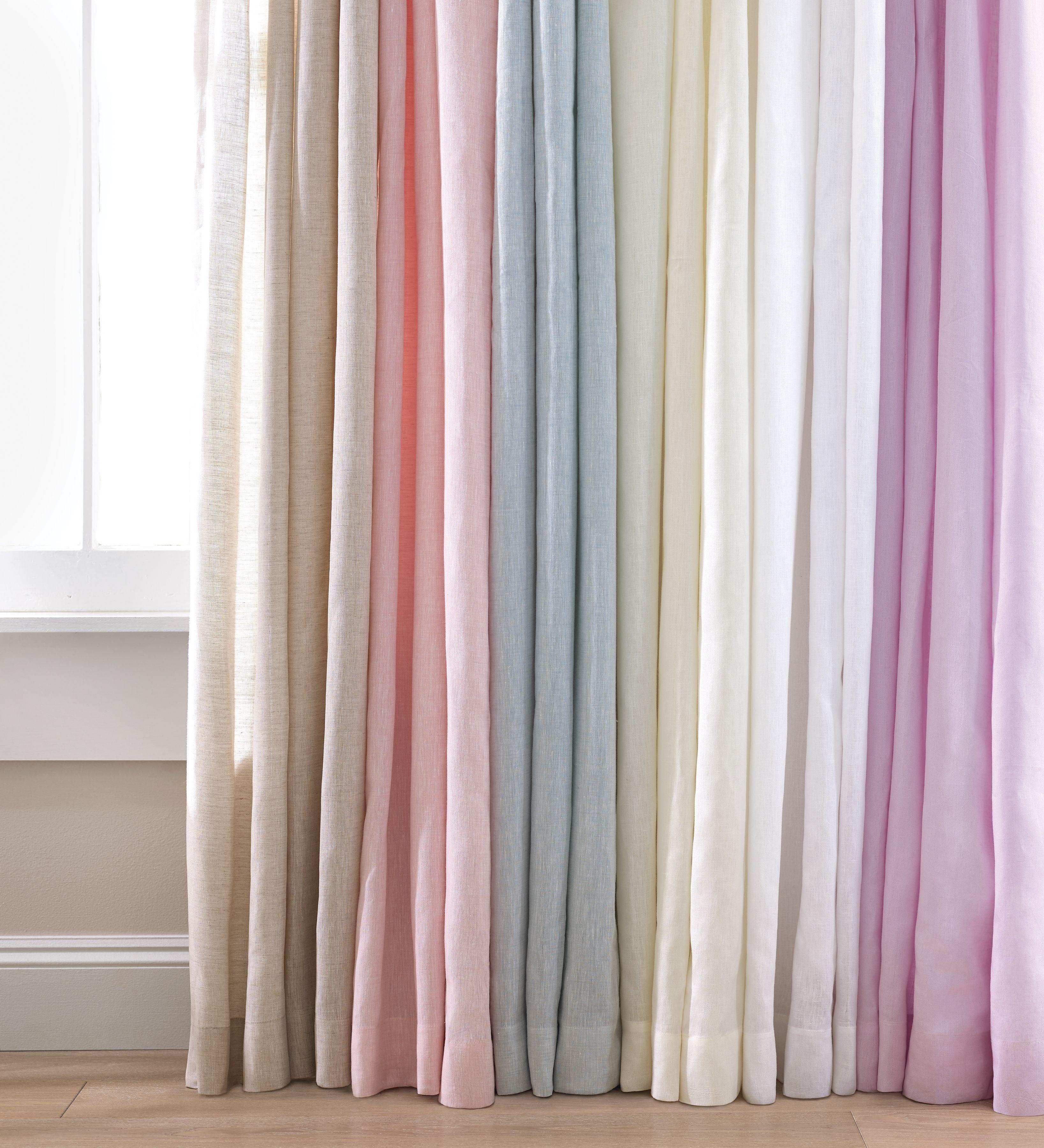 Lush Linen Slipper Pink Curtain Panel Pine Cone Hill Linen