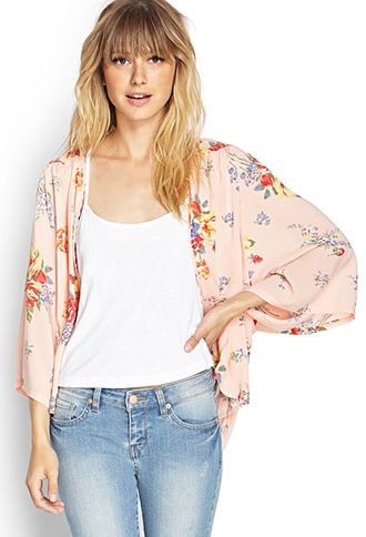 120e06469f1d Floral Kimono Cardigan | FOREVER21 | My style - haves, want and wish ...
