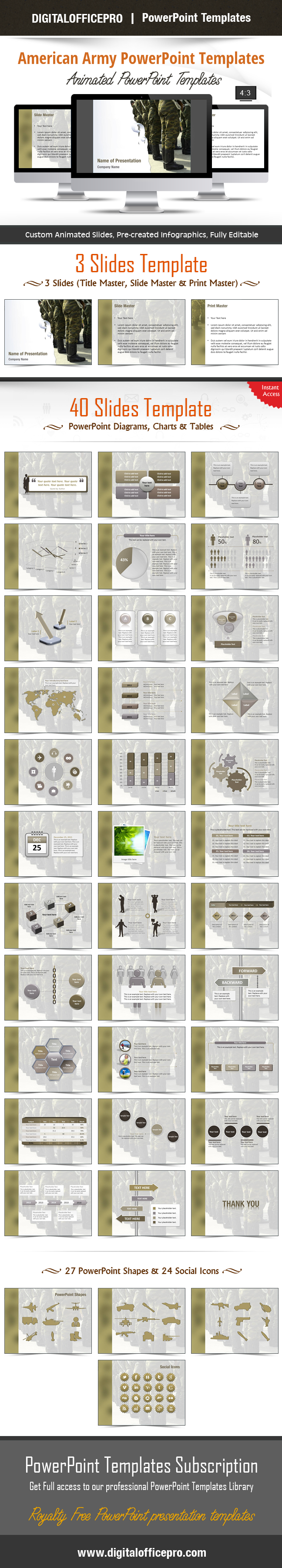 impress and engage your audience with american army powerpoint, Modern powerpoint