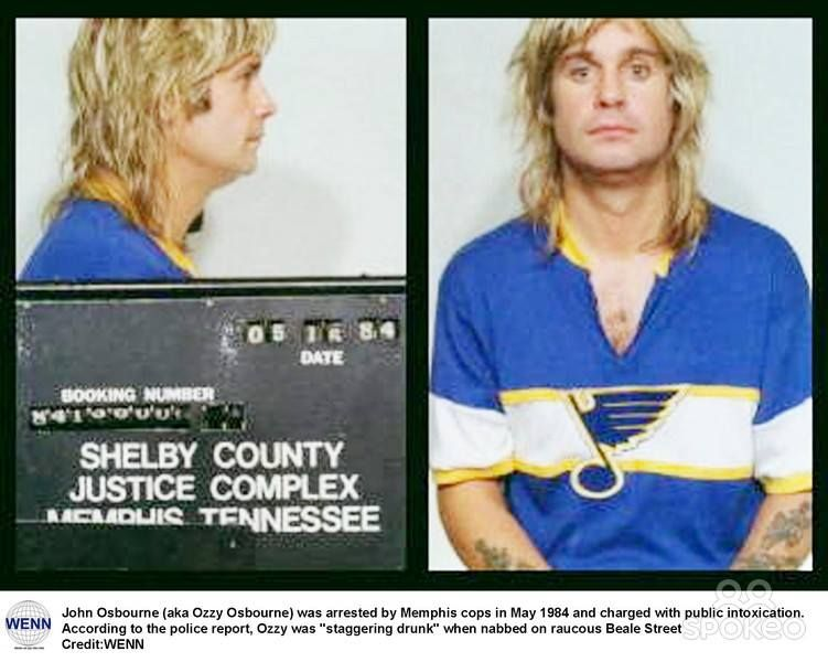 1984 Ozzy Osbourne Was Arrested In Memphis Tennessee For